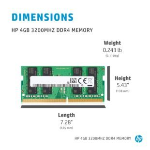 HP 4 GB 3200MHz DDR4 Memory