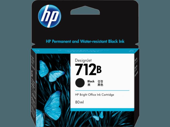 HP 712B DesignJet 80 毫升黑色墨盒