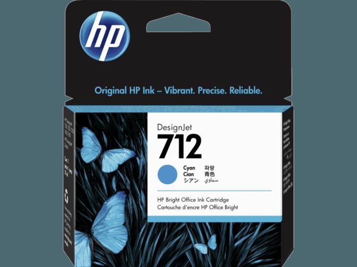HP 712 DesignJet 29 毫升青色墨盒