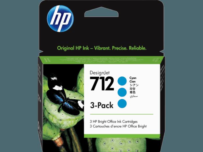 HP 712 DesignJet 29 毫升青色墨盒 3 個裝