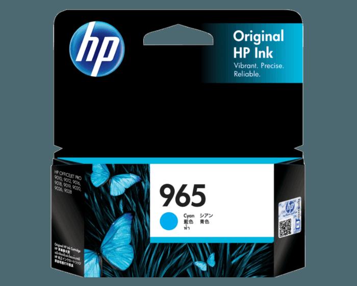 HP 965 綻藍原廠墨盒