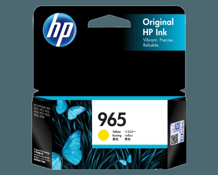 HP 965 黃色原廠墨盒