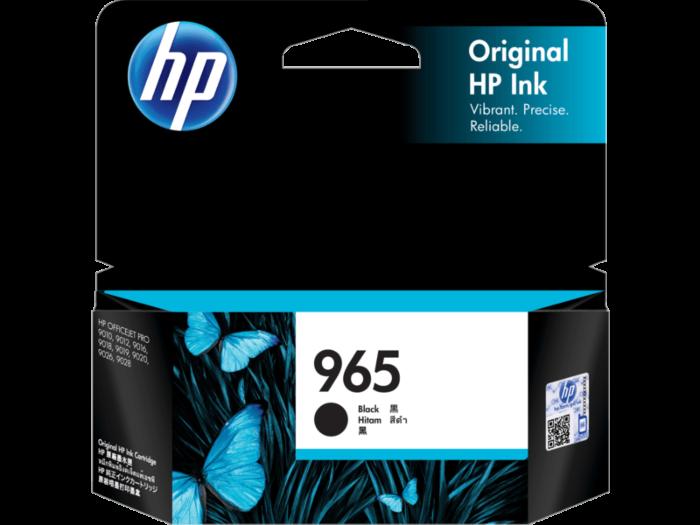 HP 965 黑色原廠墨盒