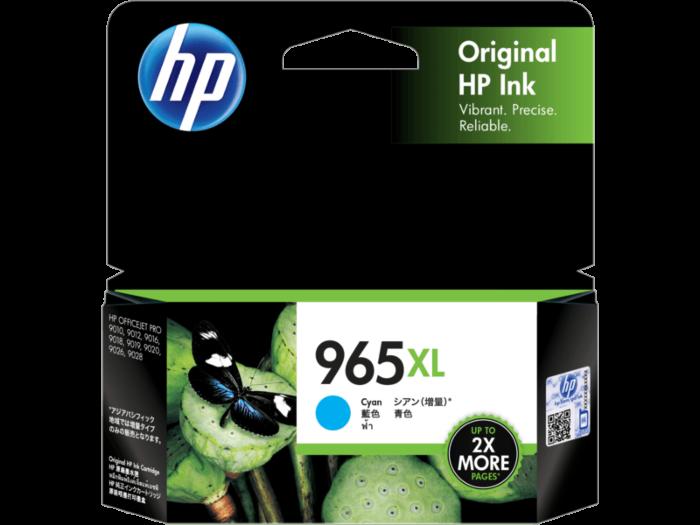 HP 965XL High Yield Cyan Original Ink Cartridge