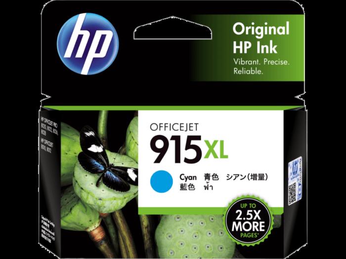 HP 915XL 高打印量綻藍原廠墨盒