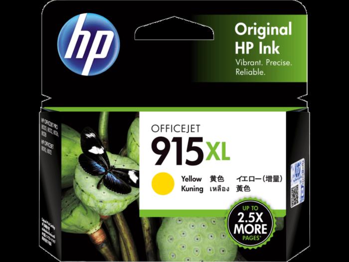 HP 915XL 高打印量黃色原廠墨盒