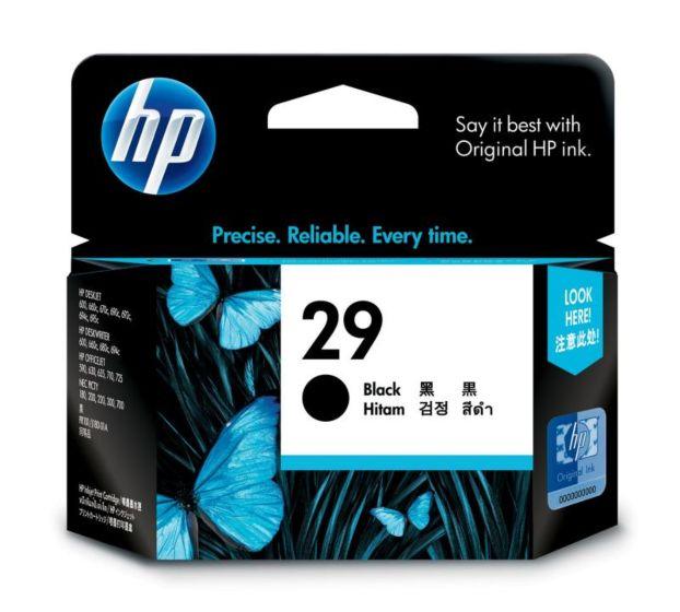 HP 29 Black Inkjet Print Cartridge