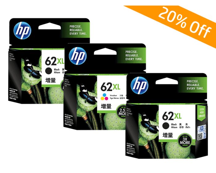 HP Online Promotion- 62XL Package discount