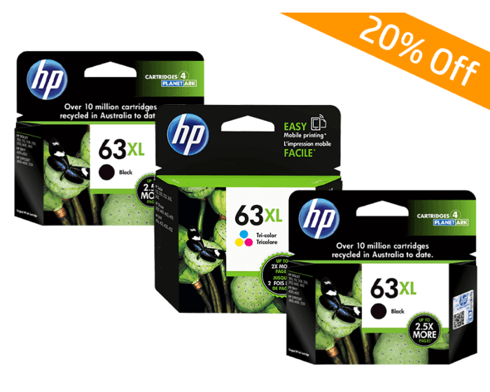 HP Online Promotion- 63XL Package discount