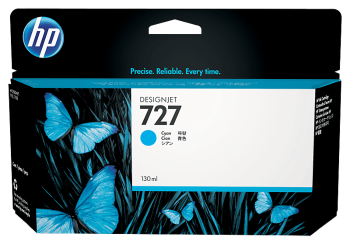 HP 727 130 毫升青色 DesignJet 墨盒