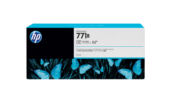HP 771B 775-ml 亮光黑 DesignJet 油墨盒