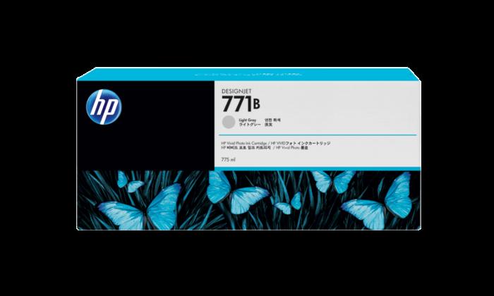 HP 771B 775-ml 淺灰色 DesignJet 油墨盒