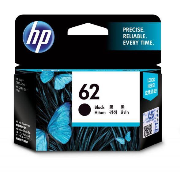 HP 62 黑色原廠墨盒
