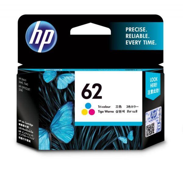 HP 62 三色原廠墨盒