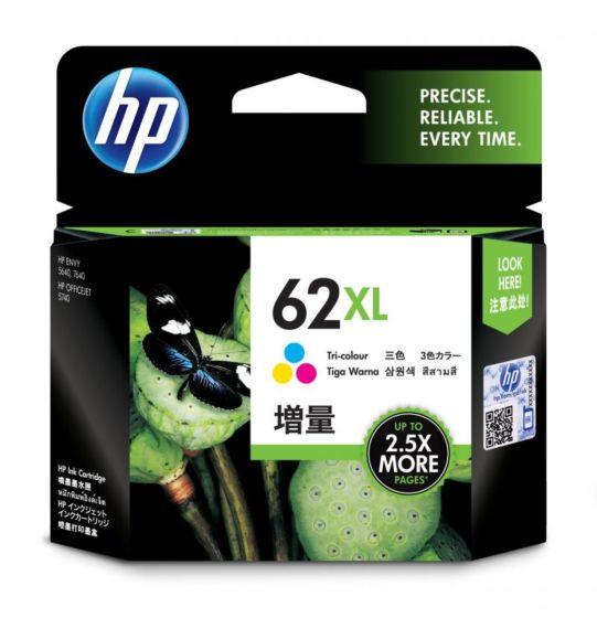 HP 62XL 高打印量三色原廠墨盒
