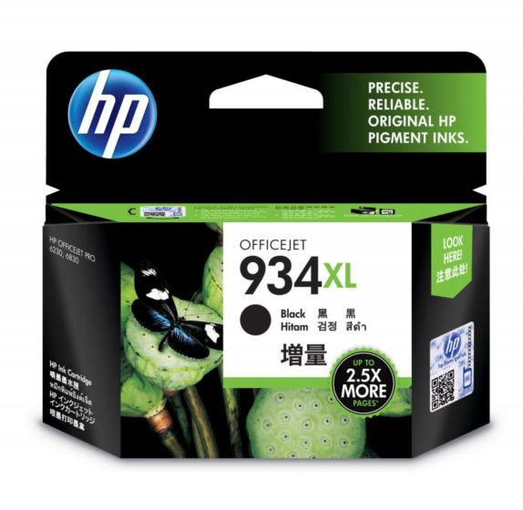 HP 934XL 高打印量黑色原廠墨盒