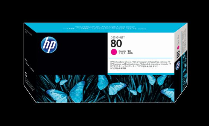 HP 80 洋紅色 DesignJet 打印頭和打印頭清潔劑