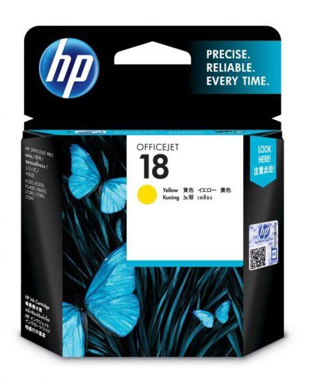 HP 18 黃色原廠墨盒