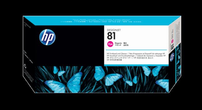 HP 81 洋紅色 DesignJet 染料型打印頭和打印頭清潔劑