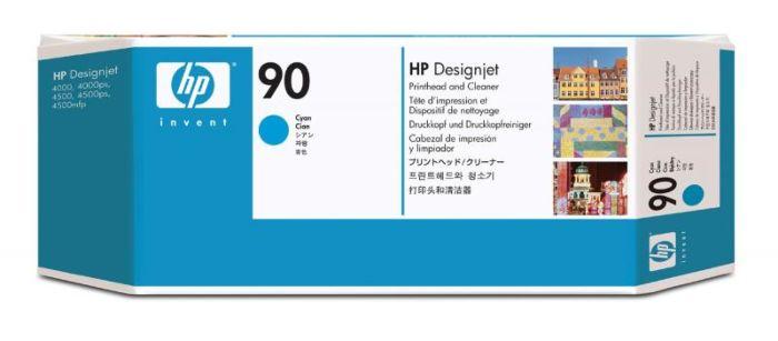 HP 90 綻藍色 DesignJet 打印頭和打印頭清潔劑