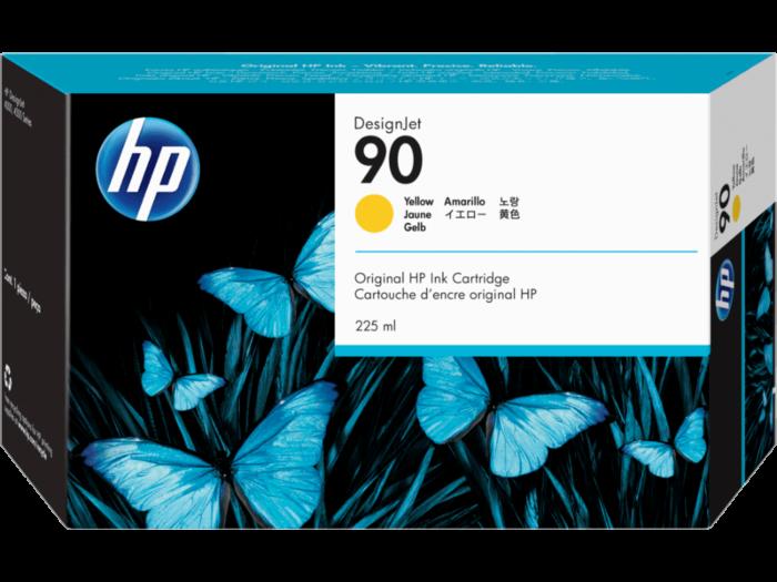HP 90 225-ml 黃色 DesignJet 油墨盒