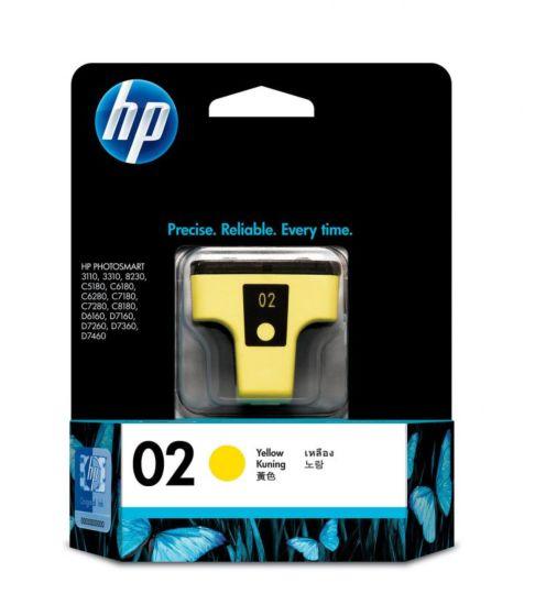 HP 02 Yellow Original Ink Cartridge