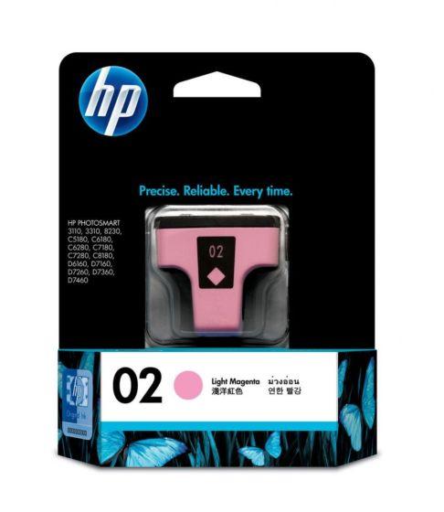 HP 02 淺洋紅原廠墨盒