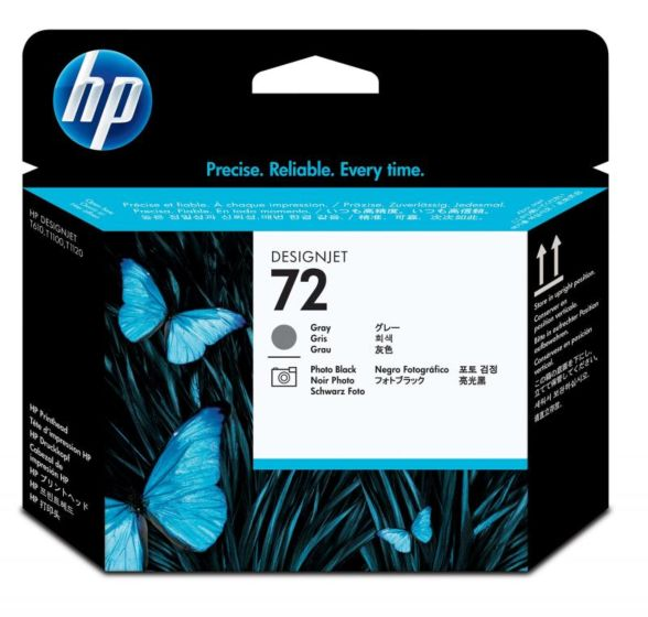 HP 72 灰色/亮光黑 DesignJet 打印頭
