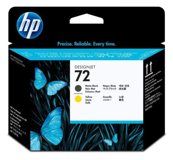 HP 72 霧面黑/黃色 DesignJet 打印頭