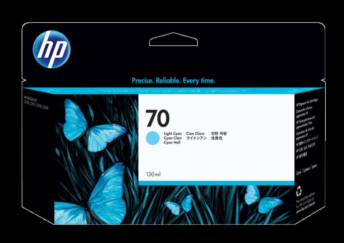 HP 70 DesignJet 130 毫升淺青色墨盒