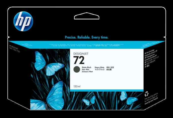 HP 72 130-ml Matte Black DesignJet Ink Cartridge