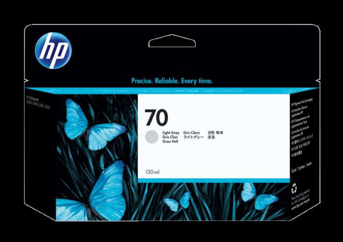 HP 70 DesignJet 130 毫升淺灰墨盒