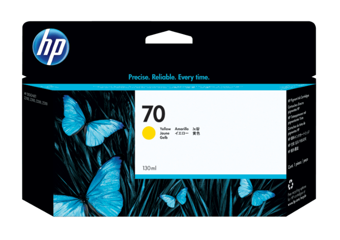 HP 70 130-ml Yellow DesignJet Ink Cartridge