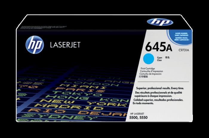HP 645A 綻藍原廠 LaserJet 碳粉盒