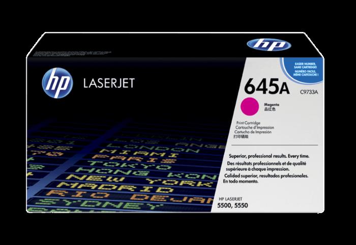 HP 645A 洋紅原廠 LaserJet 碳粉盒