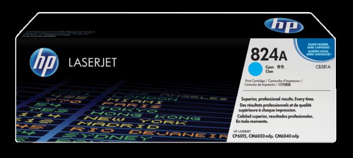 HP 824A 綻藍原廠 LaserJet 碳粉盒