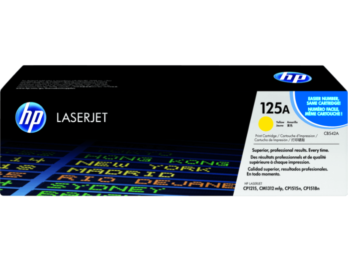 HP 125A 黃色原廠 LaserJet 碳粉盒