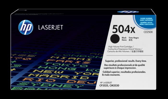 HP 504X 高打印量黑色原廠 LaserJet 碳粉盒