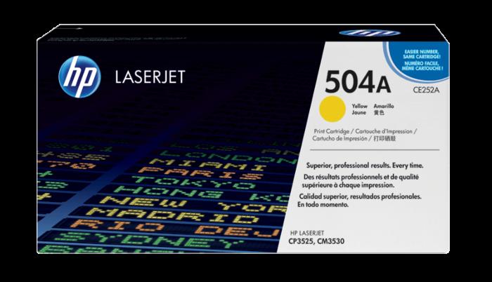 HP 504A 黃色原廠 LaserJet 碳粉盒