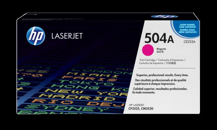 HP 504A 洋紅原廠 LaserJet 碳粉盒