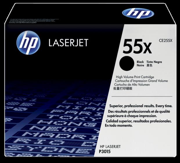 HP 55X 高容量黑色原廠 LaserJet 碳粉盒