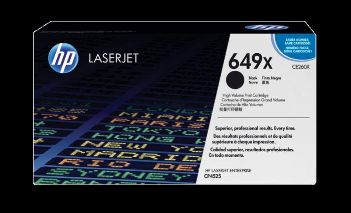 HP 649X 高打印量黑色原廠 LaserJet 碳粉盒