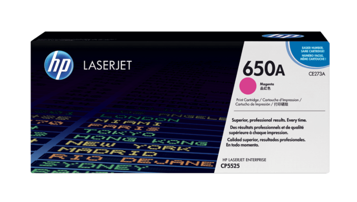 HP 650A 洋紅原廠 LaserJet 碳粉盒