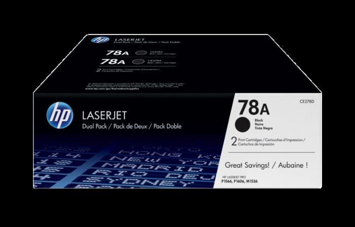 HP 78A 2 包裝黑色原廠 LaserJet 碳粉盒