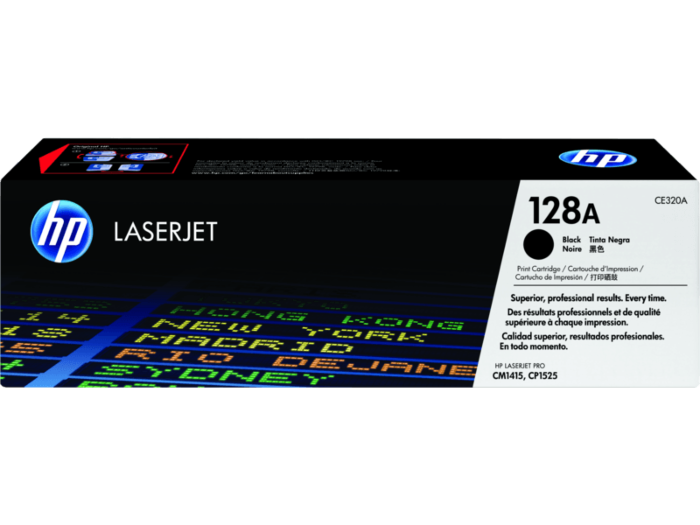 HP 128A Black Original LaserJet Toner Cartridge