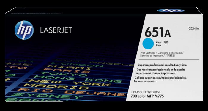 HP 651A 綻藍原廠 LaserJet 碳粉盒