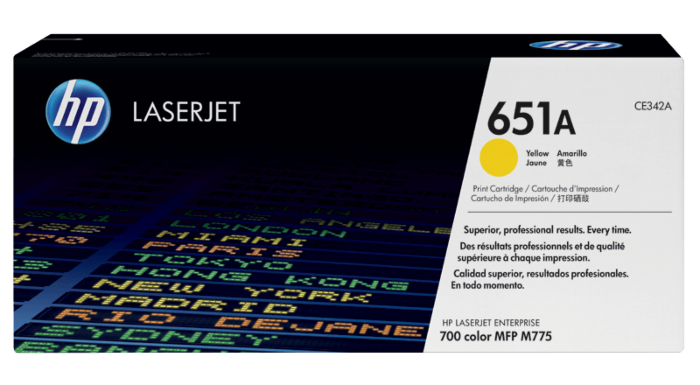 HP 651A 黃色原廠 LaserJet 碳粉盒
