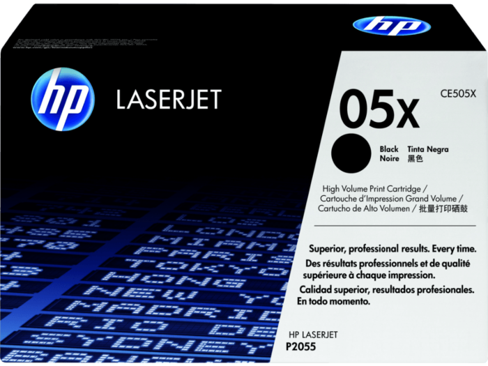 HP 05X 高打印量黑色原廠 LaserJet 碳粉盒