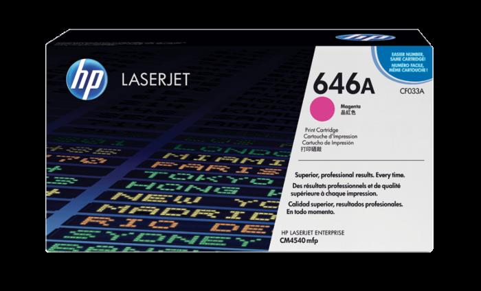 HP 646A 洋紅原廠 LaserJet 碳粉盒