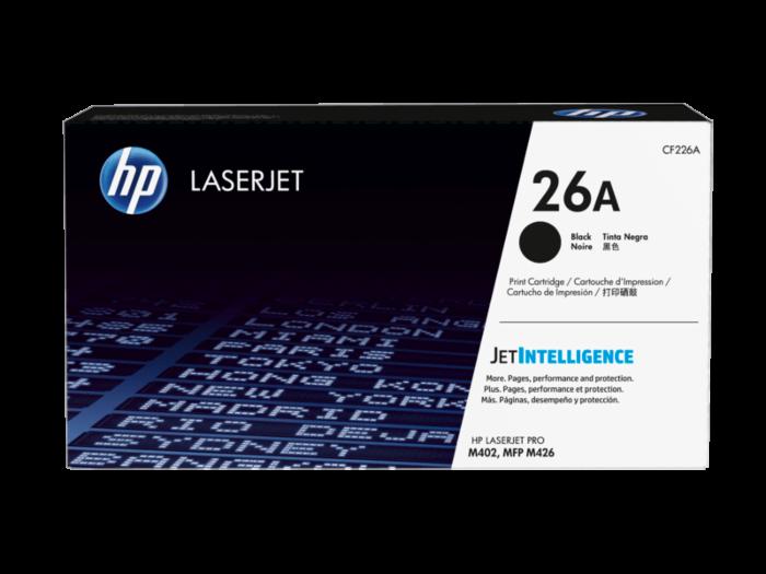 HP 26A 黑色原廠 LaserJet 碳粉盒